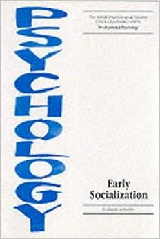 Book Early Socialization (Open Learning Units)