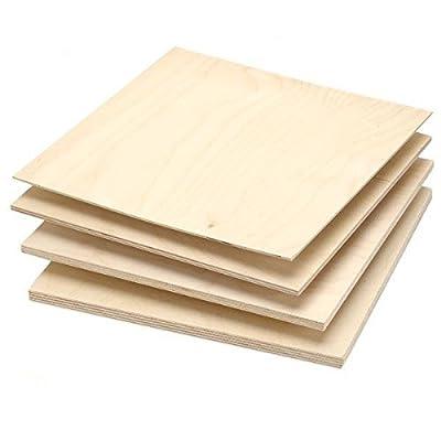 "Single Piece of Baltic Birch Plywood, 9mm - 3/8"" x 12"" x 12"""