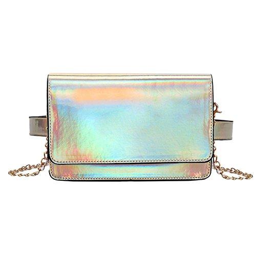 Handbag Fanny Holographic Waist Women Chain Gold Everpert Pack Shoulder Messenger qw18xnCE