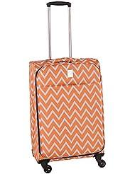 Jenni Chan Aria Madison 25 Inch Spinner Luggage, Orange, One Size