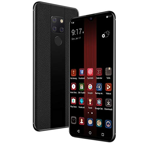 MChoice❤️MobilePhone 1+8GB 8Core 6.3Inch Android8.1 3G Face ID Fingerprin Smartphe (Black) ()