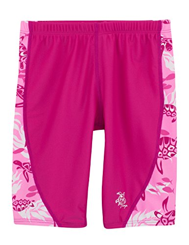 (Tuga Girls Jammer Short (UPF 50+), Cotton Candy, 2/3 yrs (18-20