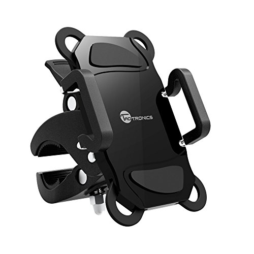 TaoTronics Bicycle Phone Mount, Bike Phone Mount Accessories with Universal Holder for iOS Android Smartphones,...