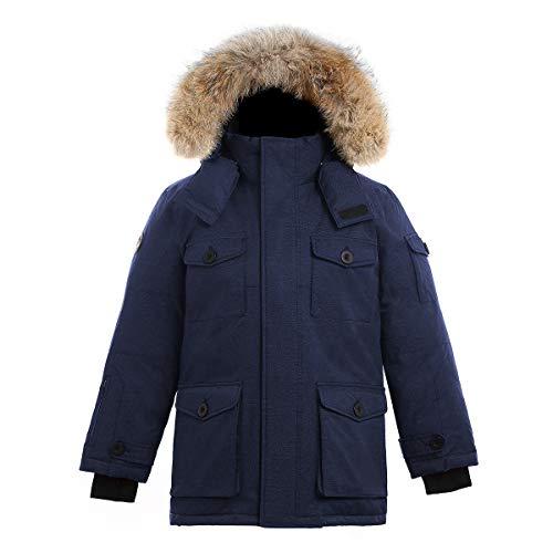 Triple F.A.T. Goose SAGA Collection | Eldridge Boys Parka Jacket (12/14, Navy) ()