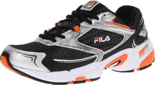 Fila Uomo Dls Swerve Running Shoe Castlerock / Metallic Silver / Vibrant Orange