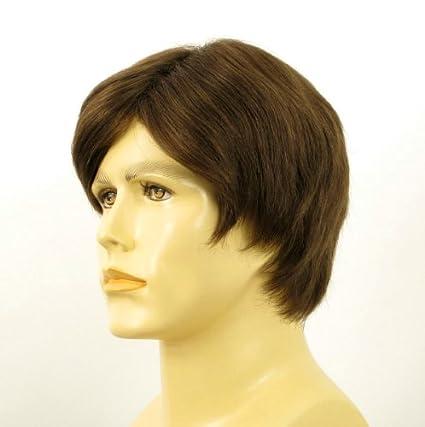 Peluca de pelo natural corta para hombre, color oscuro VICTOR/8