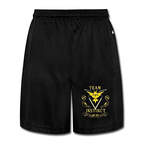 Team Instinct (Pokemon GO Inspired) - Yellow Vinyl Decal Boy Nice OnHeavyWeight Shorts SweatpantJoggers Funny - Vinyl Mens Shorts