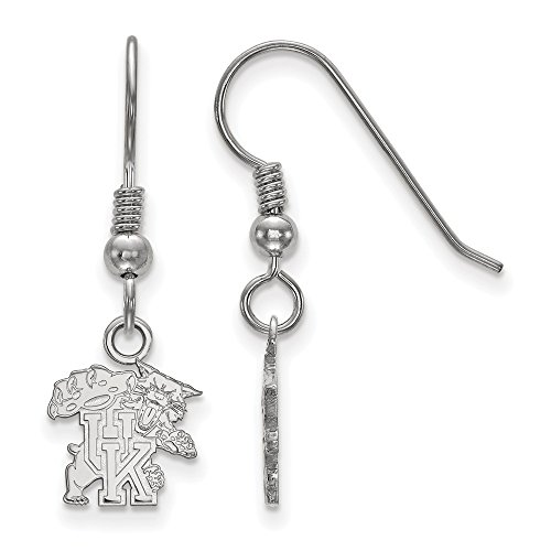 925 Sterling Silver Officially Licensed University College of Kentucky Mini Small Dangle Wire Earrings by Mia Diamonds and Co.