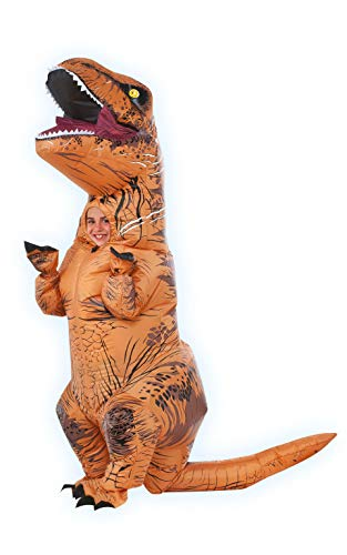 Giant Inflatable T Rex (Rubie's Jurassic World T-Rex Inflatable Costume, Child's Size)