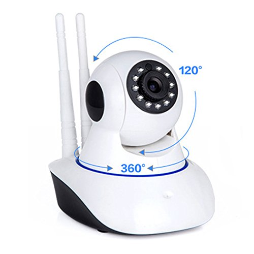 Wireless Security Ip Cameras Wifi Baby Monitor P2P Network Remote Monitoring Surveillance Camera System 720P Day&Night Version (WEONEDREAM)