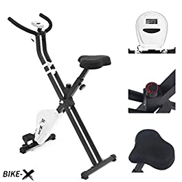 ESPRIT BIKE-X Fitness Belt Driven Foldable Exercise Bike Fit...