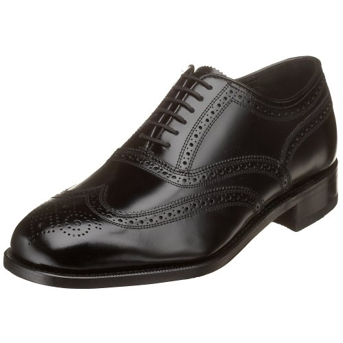 Florsheim Men's Lexington Wingtip Oxford,Black,10.5 D US (Waxy Calf Footwear)