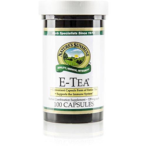 (NATURE'S SUNSHINE E-Tea Capsules, 100 Count)