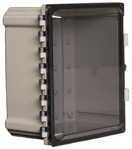 Attabox Heartland AH14126C Polycarbonate Enclosure with Hinged, Locking, Clear Cover, 14