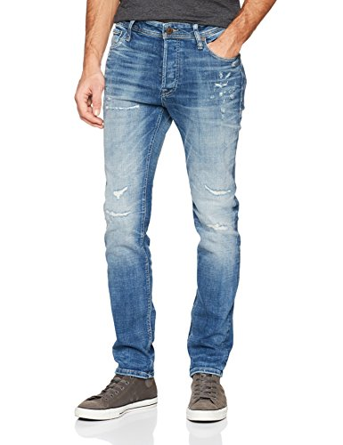 Blue JONES Denim Vaqueros amp; Slim JACK Azul Hombre para 0S7vw4q5