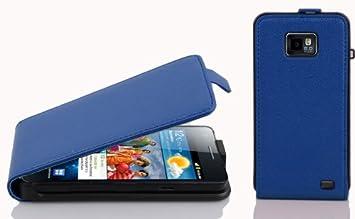 Cadorabo Carcasa Compatible Con Samsung Galaxy S2/S2 PLUS móvil en Rey Azul Funda Carcasa de Textura de Piel Sintética en FLIP CASE COVER Carcasa ...