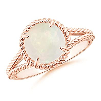 Angara Claw-Set Opal Twisted Rope Split Shank Ring CwAIRgwY