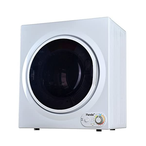 Panda 3.75 cu.ft Compact Laundry Dryer, 13.2lbs Capacity, Control Panel Downside,...