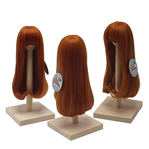 - PHSFUBEL Wigs for BJD 1/3 1/4 1/6 Doll Pear Flower Roll Inside Long Section Hair Wig-Carrot red - for 1/3 Doll