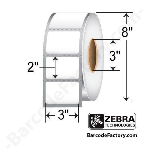 Z-perform 2000t Thermal Transfer Labels ((10000286) Zebra 3x2 Z-Perform 2000T Thermal Transfer Label [3