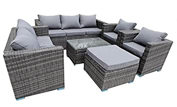 Grey Rattan Garden Furniture Uk Yakoe 8 seater conservatory rattan garden furniture sofa table stool yakoe 8 seater conservatory rattan garden furniture sofa table stool chairs set grey rattan workwithnaturefo