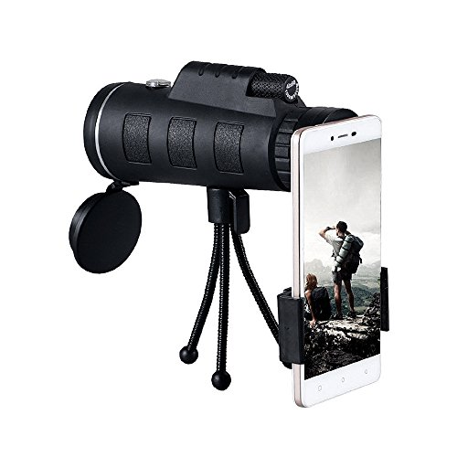 Rbaysale Monocular Telescope 40x60 High Power Dual Focus BAK4 Prism Professional Telescope - HD View Spotting Scope Telescopes with Cellphone Adapter and Tripod for Bird Watching Hunting by Rbaysale