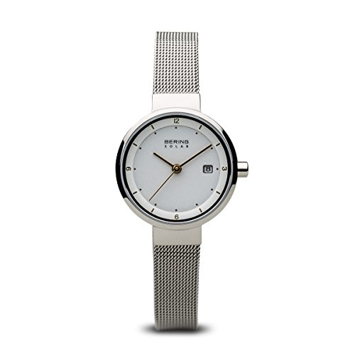 (BERING Time 14426-001 Womens Solar Collection Watch with Mesh Band and Scratch Resistant Sapphire Crystal. Designed in Denmark.)