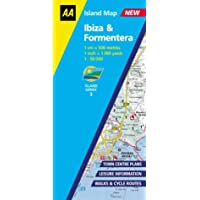 AA Island Map Ibiza & Formentera: 1:50000 (AA Island Maps) (AA Essential Spiral Guides)
