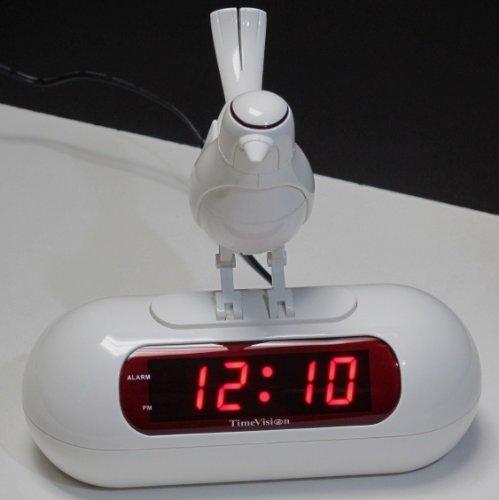 Bird Sing and Dance LED Alarm Clock, ATC0626 (Bird Sound Alarm Clock)