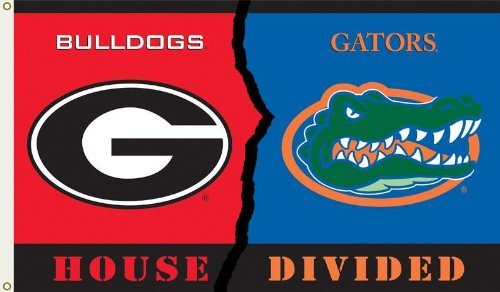 - NCAA Georgia - Florida 3-by-5 Foot Flag with Grommets - Rivalry House Divided