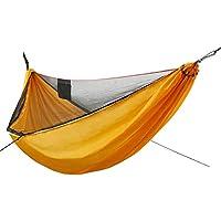 Goforwild Camping Hammock with Net & Carabiners for Indoor, Outdoor (Yellow)