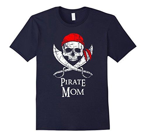 c18050e255 Pirate Mom Family Jolly Roger Skull T-Shirt