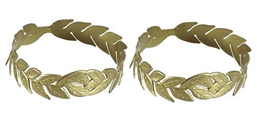 Laurel Wreath Gold Headpiece - Pack of 2]()
