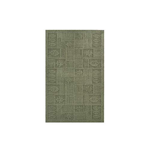 Collections Etc Leaf Pattern Textured Rug, Sage, 20
