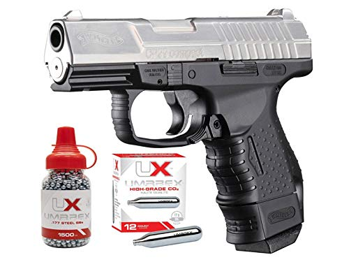 Walther CP99 Compact CO2 BB Air Pistol Kit, Nickel air Pistol