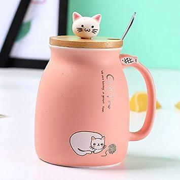 Winpavo Tazas Mugs Creativo A Prueba De Calor del Gato De Color.