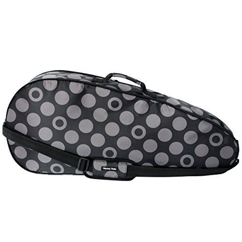 HALKARIN'S Co.,Ltd. Full Size Tennis Racket Cover Waterproof for 2-3 rackets, Size: W 30.03 x H 13.26 inch, Charcoal