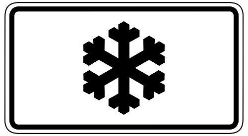 Symbol Shield Road Sign (LAMINATED 44x24 inches Poster: Traffic Sign Road Sign Shield Traffic Street Sign Ice Formation Ice Winter Cold Snowflake Symbol)