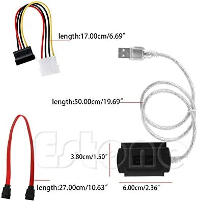 Cable Length: Other Connectors for 2.5//3.5 Drive Hard SATA//PATA//IDE Drive to USB 2.0 Adapter Converter Cable ping