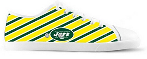 Jets Logo Ladys Nonslip Canvas Skor Jets Canvas Shoes05
