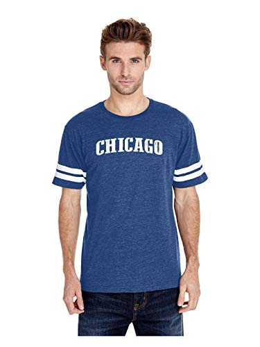 Mom`s Favorite Chicago Proud Home Adult Unisex Football Fine Jersey Tee (2XLRB) Royal -
