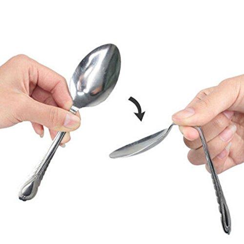 Close Up Magic Trick (HuntGold Mind Bending Spoon Close Up Magic Trick Prop Street Stage Performance Show Kit)