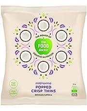 The Food Doctor Corn & Soy Crisp Thins - Mild Korma (23g) - Pack of 6