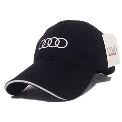 low-cost casquette Audi noir classique anneaux matière fine d'été racing sport F1