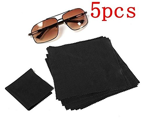 5pcs 15X15cm Eyeglasses Reading Glasses Cleaning Cloth Camera Phone Screen Cleaner by STCorps7