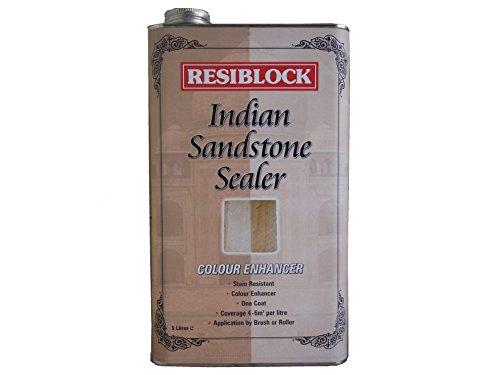 Everbuild EVBRBINDENH5 5 Litre Resiblock Indian Sandstone Sealer Colour...