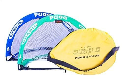 Pugg Pop Up Mini Soccer Goal World Cup B00KVJ53KW Blue Green & Bag Blue Green & Bag