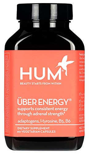 - HUM Uber Energy - Adrenal Support Complex with Rhodiola, L-Tyrosine & B Vitamins, 60 Count