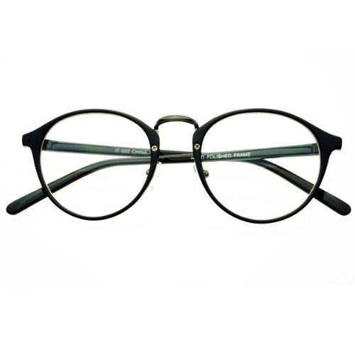 Clear Lens Vintage Retro Fashion Designer Inspired Style Round Circle Eye Glasses - Dc Eyeglass Stores