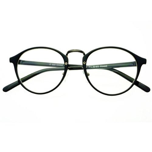Clear Lens Vintage Retro Fashion Designer Inspired Style Round Circle Eye Glasses - Stores Dc Eyeglass